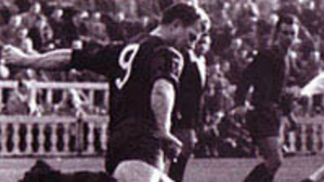 Photo of  Kubala kicking the ball