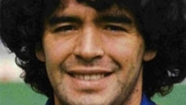 Portrait photo of Maradona