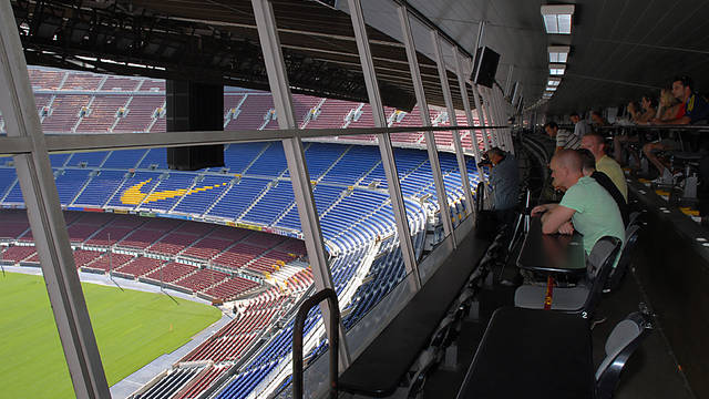 View from the press stand at the top of the Camp Nou