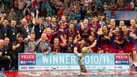 El equipo celebra la octava Copa de Europa (2010-11)