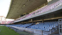 View of the Miniestadi terraces seen from the pitch