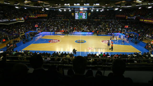 View from the Palau Blaugrana box