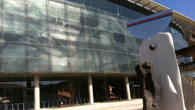 image of the outside of the stadium offices