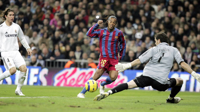 Ronaldinho against Real Madrid