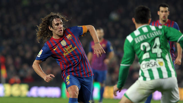 Puyol against Betis / PHOTO: MIGUEL RUIZ-FCB