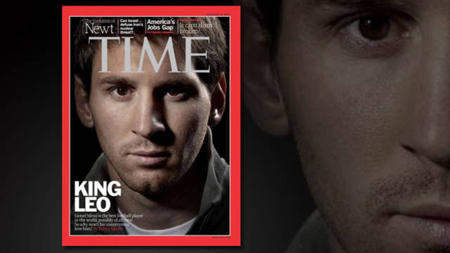 The cover of Time's February edition