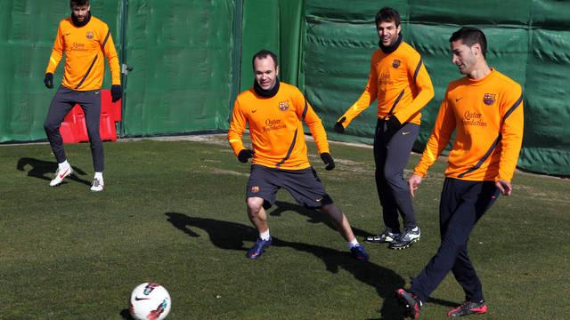 بالصور برشلونة والعودة التدريبات التأهل لنهائي الكأس