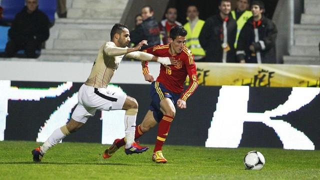 Cristian Tello could make his full international debut on Sunday in Ecuador