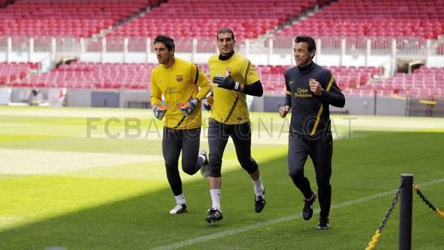 صور تدريبات برشلونة بعد ظهر الخميس استعداداً لمواجهة ريال مدريد في الكلاسيكو 21 ابريل 2012