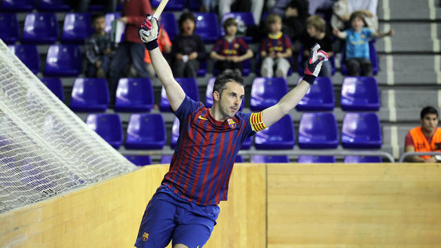 Beto Borregán celebrates a goal / PHOTO: Miguel Ruiz - FCB
