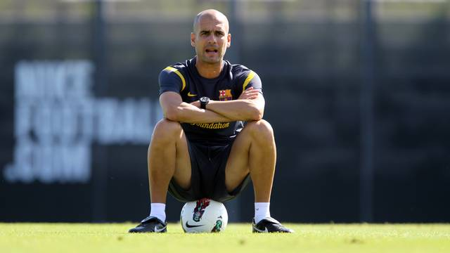 Guardiola will manage the team for the 150th time in La Liga this Wednesday / PHOTO: ARXIU FCB