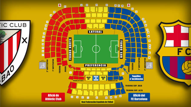 Overview of the Vicente Calderón ahead of teh King's Cup Final