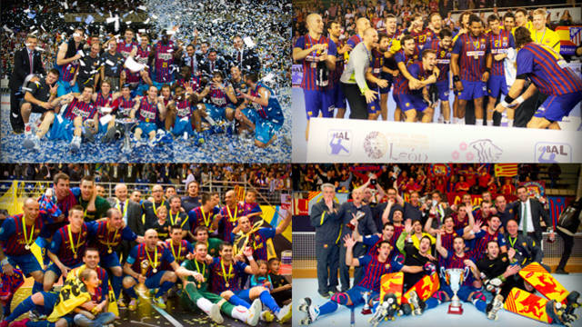 Barça's four professional teams have won 300 titles