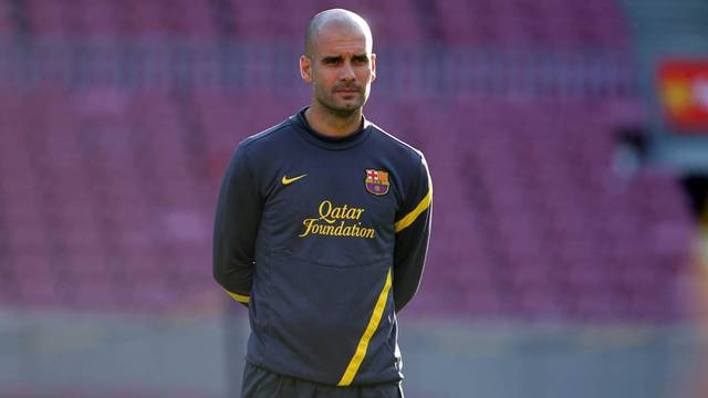Pep Guardiola at the Camp Nou. PHOTO: MIGUEL RUIZ-FCB.