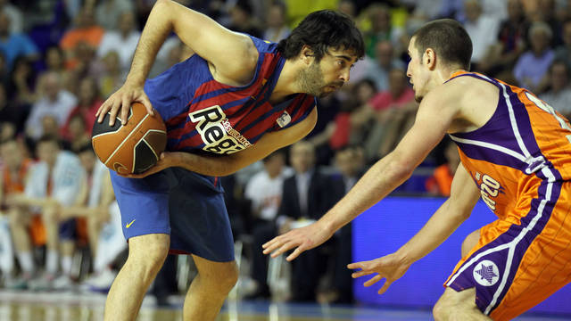 Navarro and De Colo. PHOTO: MIGUEL RUIZ-FCB.