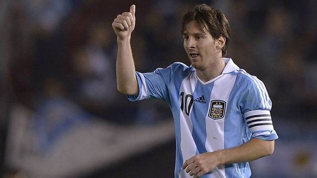 Messi scored the second of Argentina's goals / PHOTO: FCB ARCHIVE
