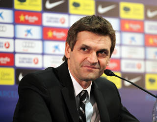 Tito Vilanova, durante la rueda de prensa de presentacin / FOTO: MIGUEL RUIZ - FCB