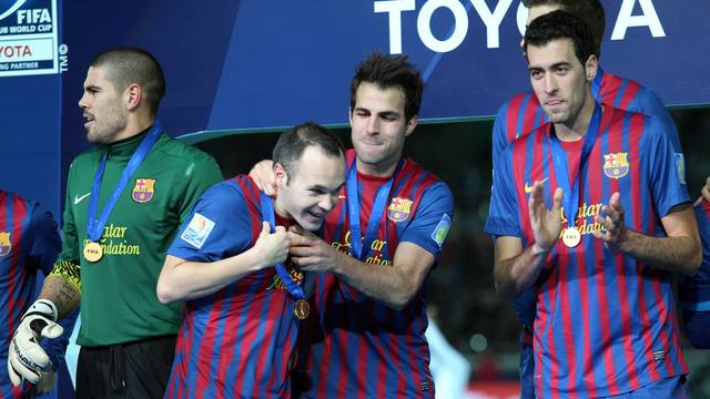 Vadlés, Iniesta, Cesc and Busquets / PHOTO: ARCHIVE FCB