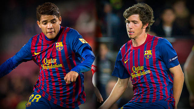 Dos Santos and Sergi Roberto