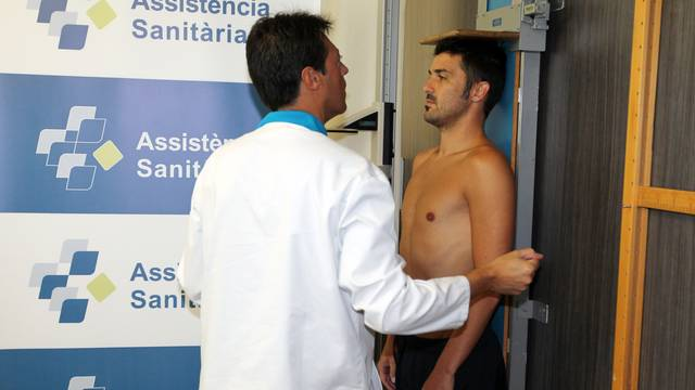 Villa in medical tests this Monday / PHOTO: MIGUEL RUIZ-FCB