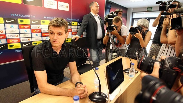 Tito Vilanova's first press conference as manager of FC Barcelona / PHOTO: MIGUEL RUIZ - FCB