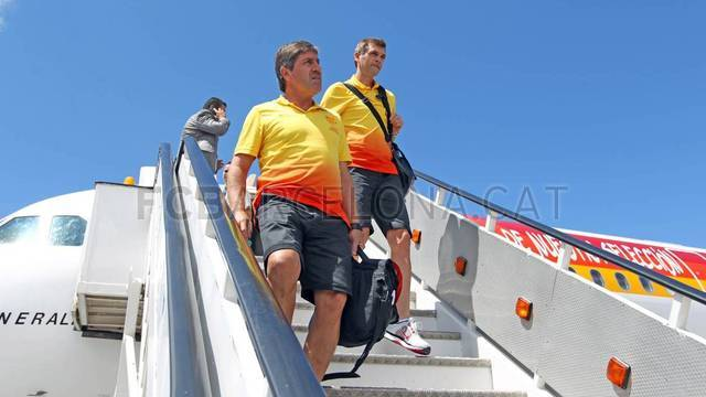 The team arrives in Tangier / PHOTO: MIGUEL RUIZ-FCB