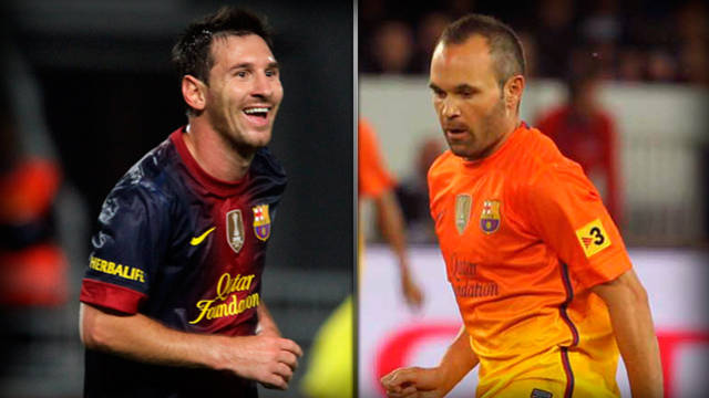 Messi and Iniesta, finalistes
