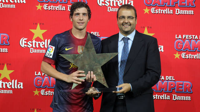 Sergi Roberto MVP of the 47th edition of the Joan Gamper Trophy / PHOTO: MIGUEL RUIZ-FCB