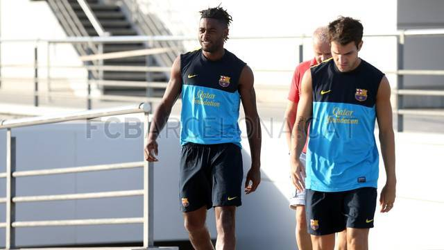 First training session of Song. IMAGE: MIGUEL RUIZ-FCB.