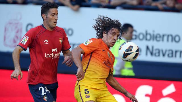 Puyol in the match against Osasuna / PHOTO: MIGUEL RUIZ-FCB