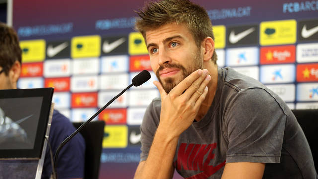 Gerard Piqué talks about the start of the season / PHOTO: MIGUEL RUIZ - FCB
