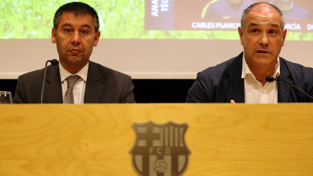 Bartomeu and Zubizarreta / PHOTO: MIGUEL RUIZ-FCB