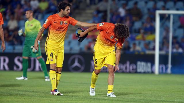 Puyol leaves the pitch / PHOTO: MIGUEL RUIZ - FCB