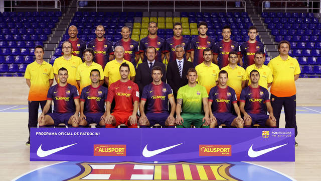 FCB Alusport official photo  2012/13 season / PHOTO: MIGUEL RUIZ - FCB