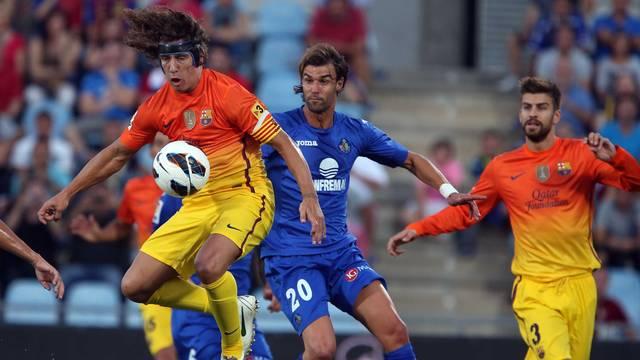 Puyol i Piqué, a Getafe / FOTO: ARXIU FCB