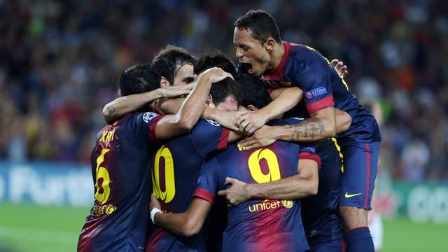A FCB's players / FOTO: ARXIU FCB