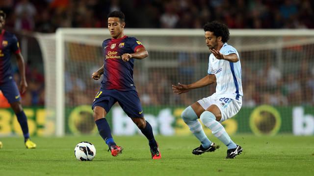 Thiago, contra el Granada. FOTO: MIGUEL RUIZ-FCB.