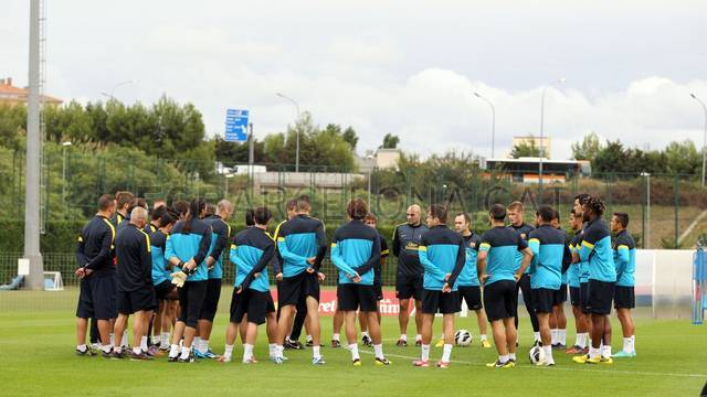 Training session 27/09/12. FOTO: MIGUEL RUIZ-FCB.
