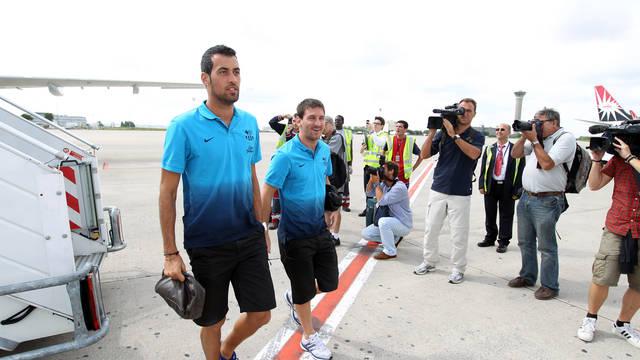 First team on their travels / FOTO: ARXIU FCB