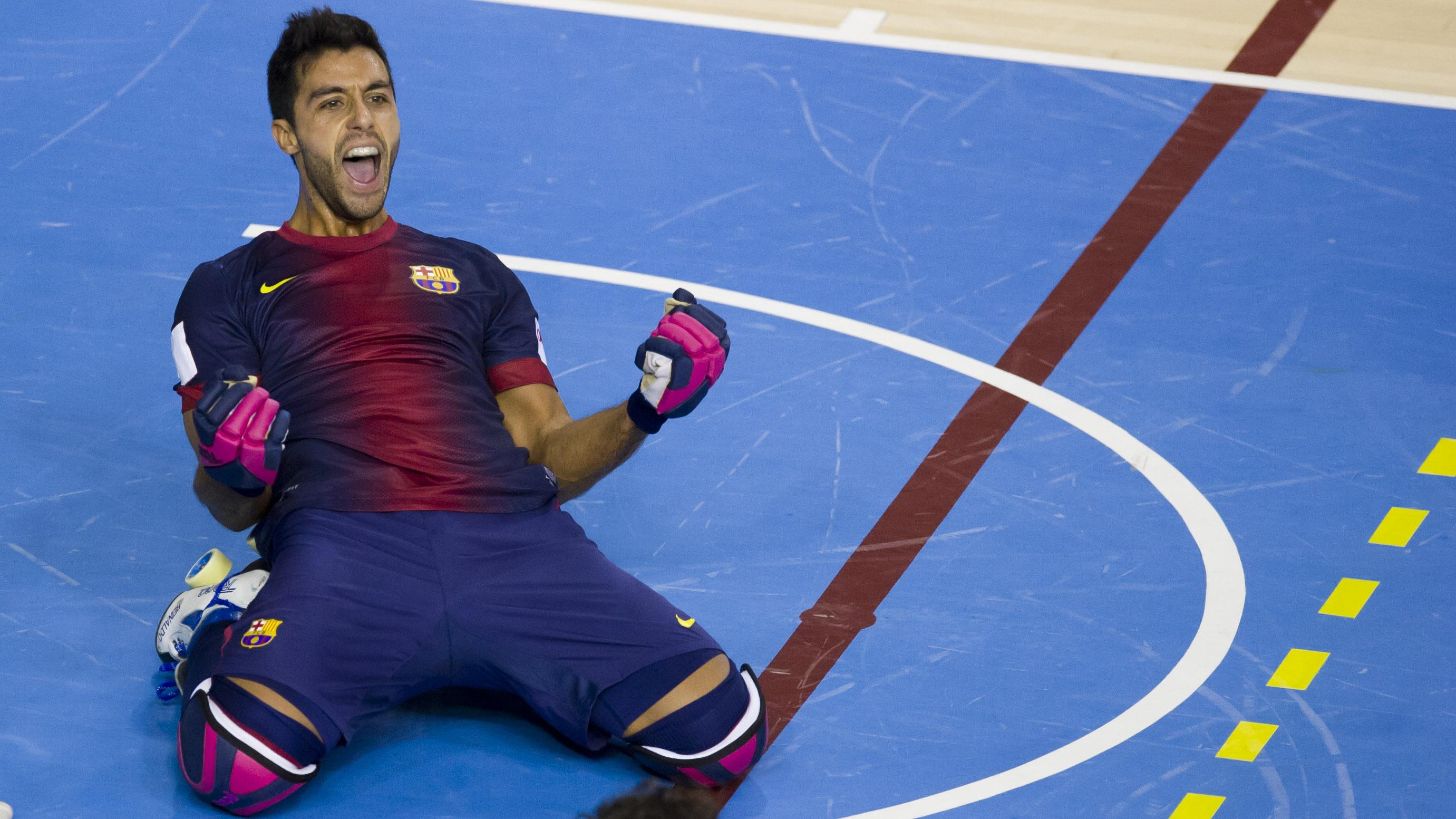 Imatge de Reinaldo García celebrant un gol