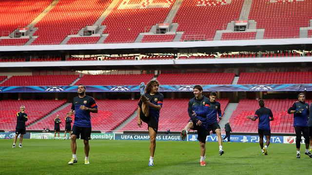 Primer contacte amb l'Estadi Da Luz / FOTO: MIGUEL RUIZ - FCB