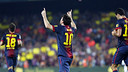 Messi celebrates a goal against Real Madrid / PHOTO: MIGUEL RUIZ