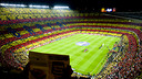 The mosaic at the Camp Nou for the Clásico / PHOTO: ÁLEX CAPARRÓS - FCB