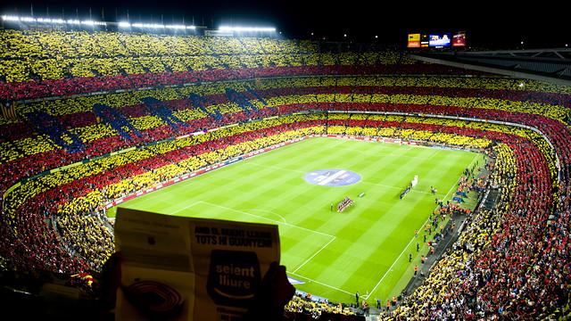 The Camp Nou before the Clásico / PHOTO: ÁLEX CAPARRÓS - FCB