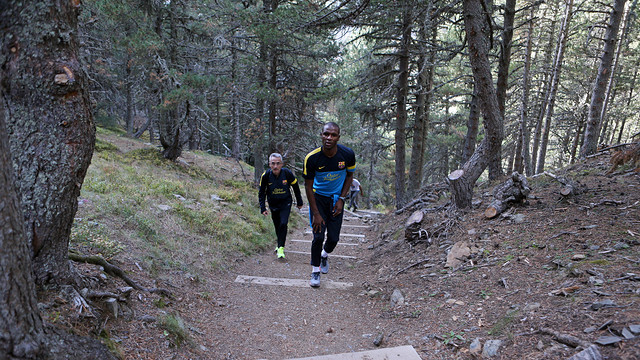 Abidal with Emili Ricart at Vall d'Aran. PHOTO: MIGUEL RUIZ-FCB.