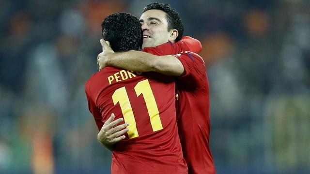 Pedro and Xavi / FOTO: CARMELO RUBIO