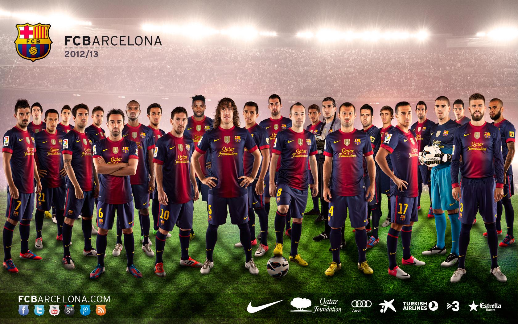 Barcelona Fc: Fonds D'écrans 2012-13