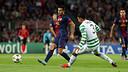 Pedro against Celtic / PHOTO: MIGUEL RUIZ - FCB