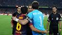 Xavi i Casillas, abans del darrer Clàssic jugat al Camp Nou / FOTO: MIGUEL RUIZ-FCB