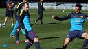 Iniesta and Bartra / PHOTO: MIGUEL RUIZ - FCB